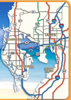 Map Of Tampa Bay Florida.Interactive Maps Of Tampa Bay Florida Choose An Online Interactive