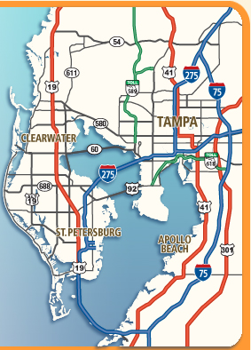 Tampa Bay Map Florida Printable Maps of Tampa Bay Florida   Print a FREE Tampa Bay FL Map!