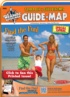 Map Of Tampa Bay Florida.Tampa Bay Florida Welcome Guide Map Tampa Bay Gulf Beaches